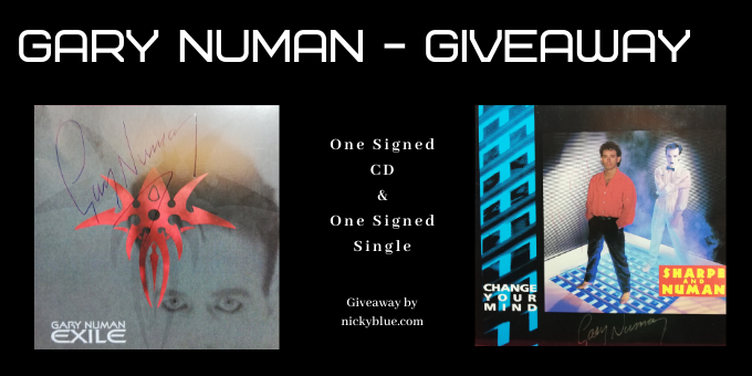 Gary Numan Giveaway – One Signed CD and One Signed Single.
